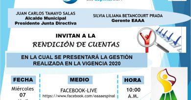 INVITACIÓN A LA RENDICIÓN DE CUENTAS 2020